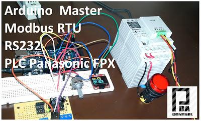 Modbus RTU Master tests with Arduino via RS232 and PLC Panasonic FPX C14R