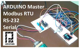 Modbus RTU Master tests with Arduino via RS232 Part 2
