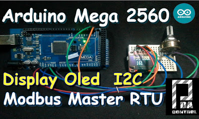 Arduino Mega 2560 Oled Display I2C Master Modbus RTU Scada Industrial Connection