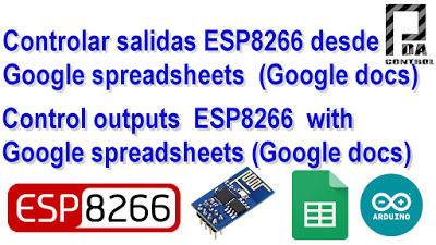 Control outputs  ESP8266  with Google spreadsheets (Google docs)