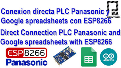 PLC Connection Fpx C14 Panasonic and Google spreadsheets (Google docs) with ESP8266