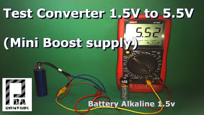 Test Mini Booster 1.5v a 5.5v