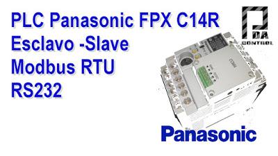 Industrial – PLC FPX C14R Panasonic – Slave Modbus RTU RS232