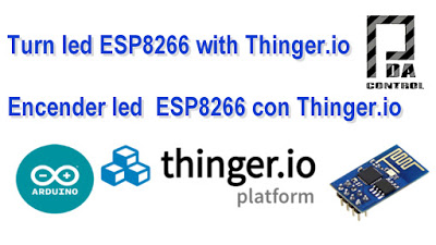 Turn led ESP8266 with Thinger.io
