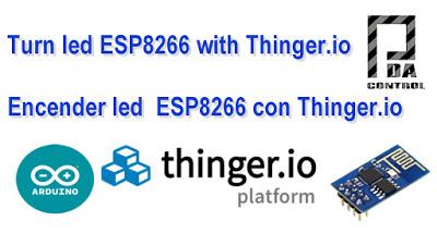 Turn led ESP8266 with Thinger.io