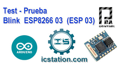 Blink ESP8266 03 ESP 03 in Arduino IDE