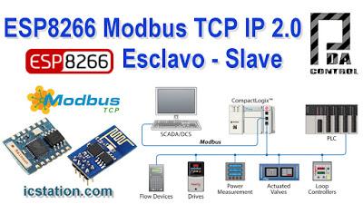 Update ESP8266  Industrial Modbus TCP IP   V2.0