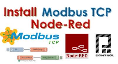 Installation node Modbus TCP  Node Red