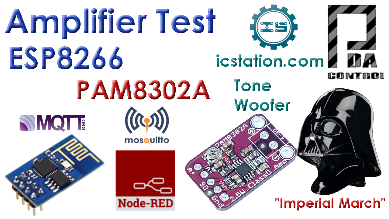 Tutorial Amplifier Audio PAM8302A ESP8266  Node-RED MQTT