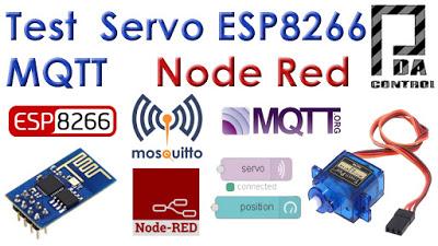Tutorial ESP8266 Control Servo Node-RED MQTT (Mosquitto) IoT  #2