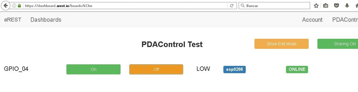 ESP8266 PDAControl pdacontrolen.com aREST