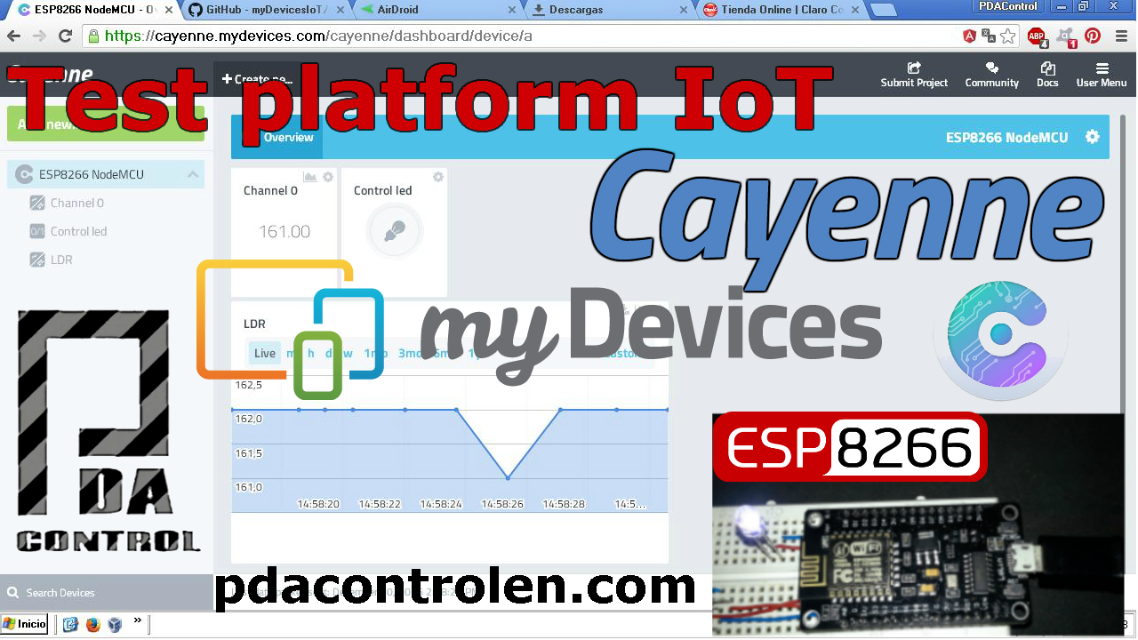 Introduction Platform IoT Cayenne mydevices & ESP8266