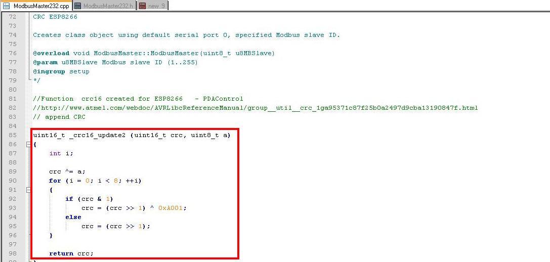 PDAControl pdacontrolen.com PDAControlen.com ModbusRTU ESP8266