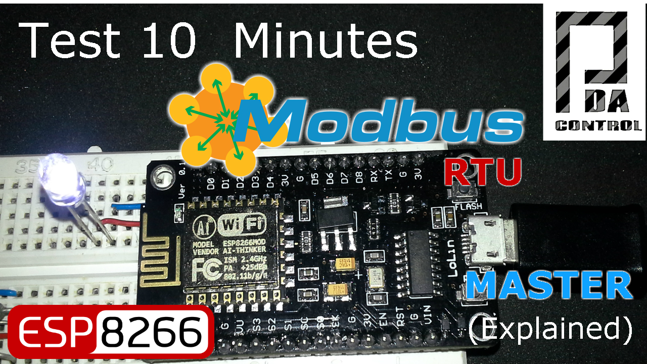 Tutorial ESP8266 12E Modbus RTU Master (Improved)
