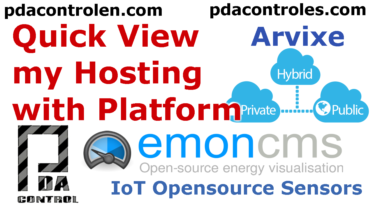 Quick View to Platform Emoncms OpenEnergyMonitor in Hosting