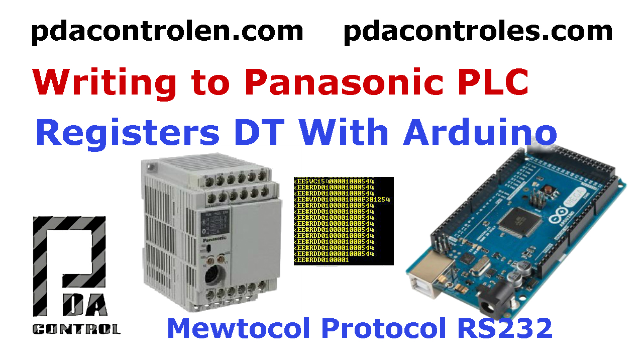 Arduino writing Mewtocol Protocol from PLC'S Panasonic