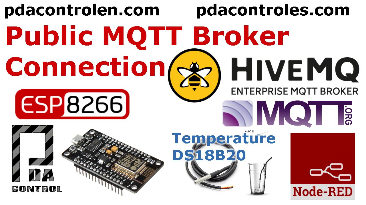 ESP8266 & Public MQTT Broker HiveMQ & Node-RED