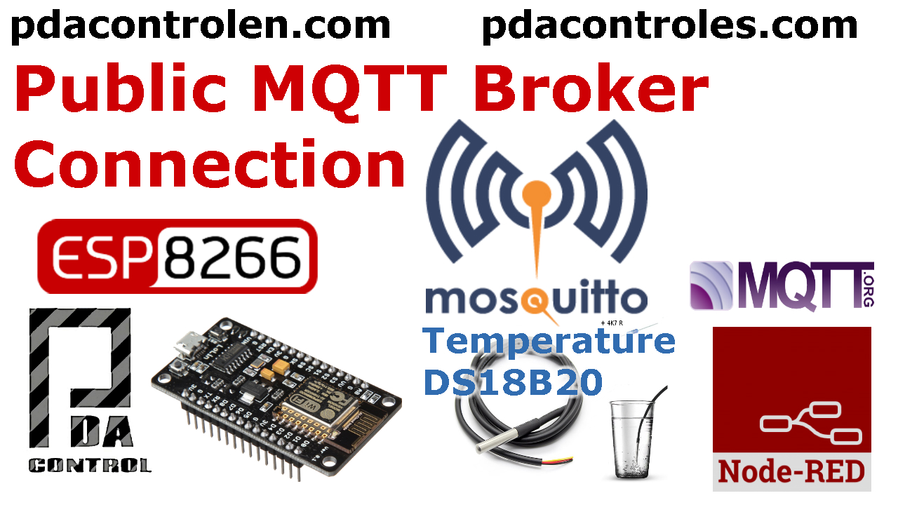 ESP8266 & Public MQTT Broker mosquitto.org & Node-RED