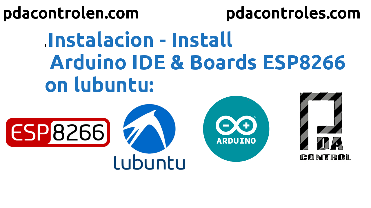 Installation Arduino IDE & Boards ESP8266 in Lubuntu