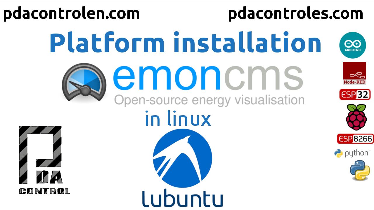 Installation IoT Platform Emoncms in lubuntu Linux