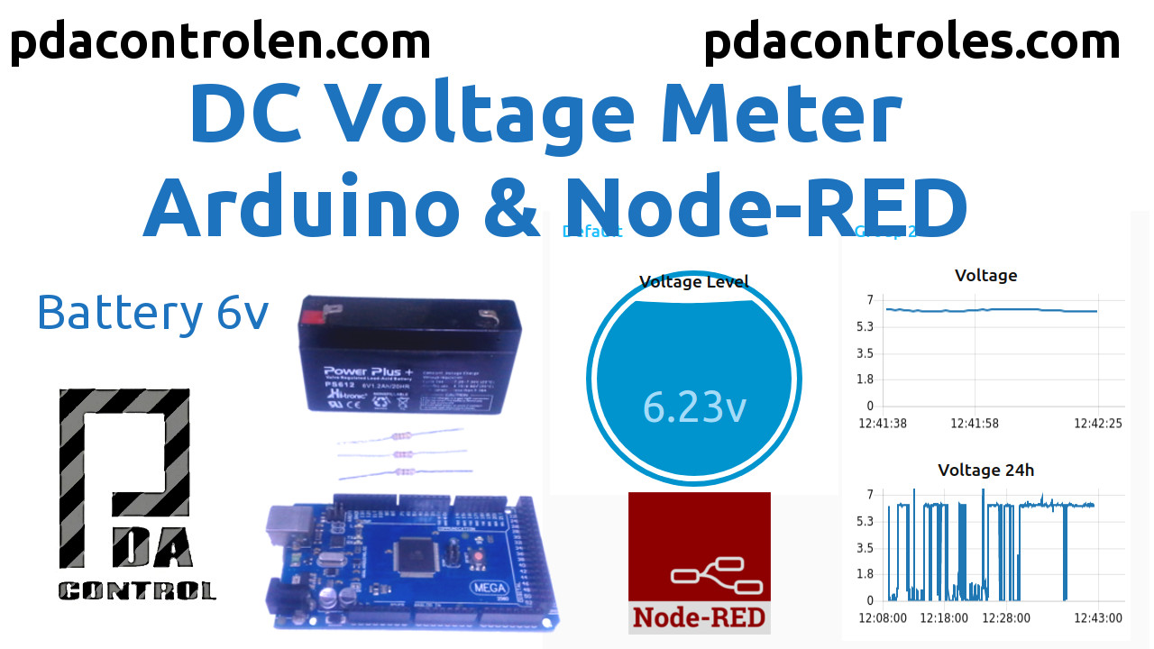 Measuring DC Voltage with Arduino and Node-RED
