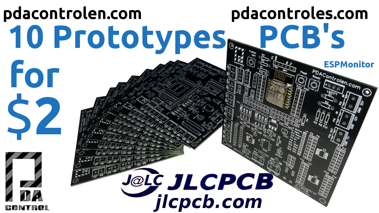 10 Professional PCBs for $ 2 with JLCPCB – ESPMonitor Prototypes