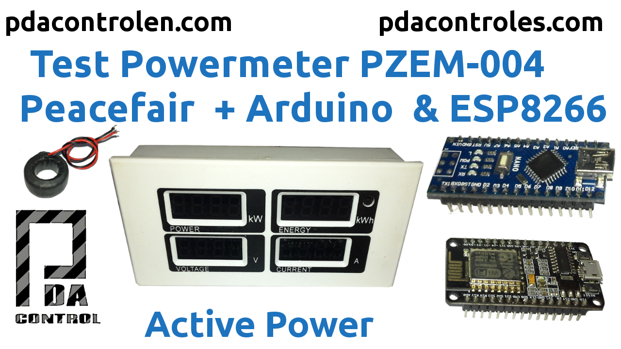 Electricity consumption meter Peacefair PZEM 004 + ESP8266 & Arduino