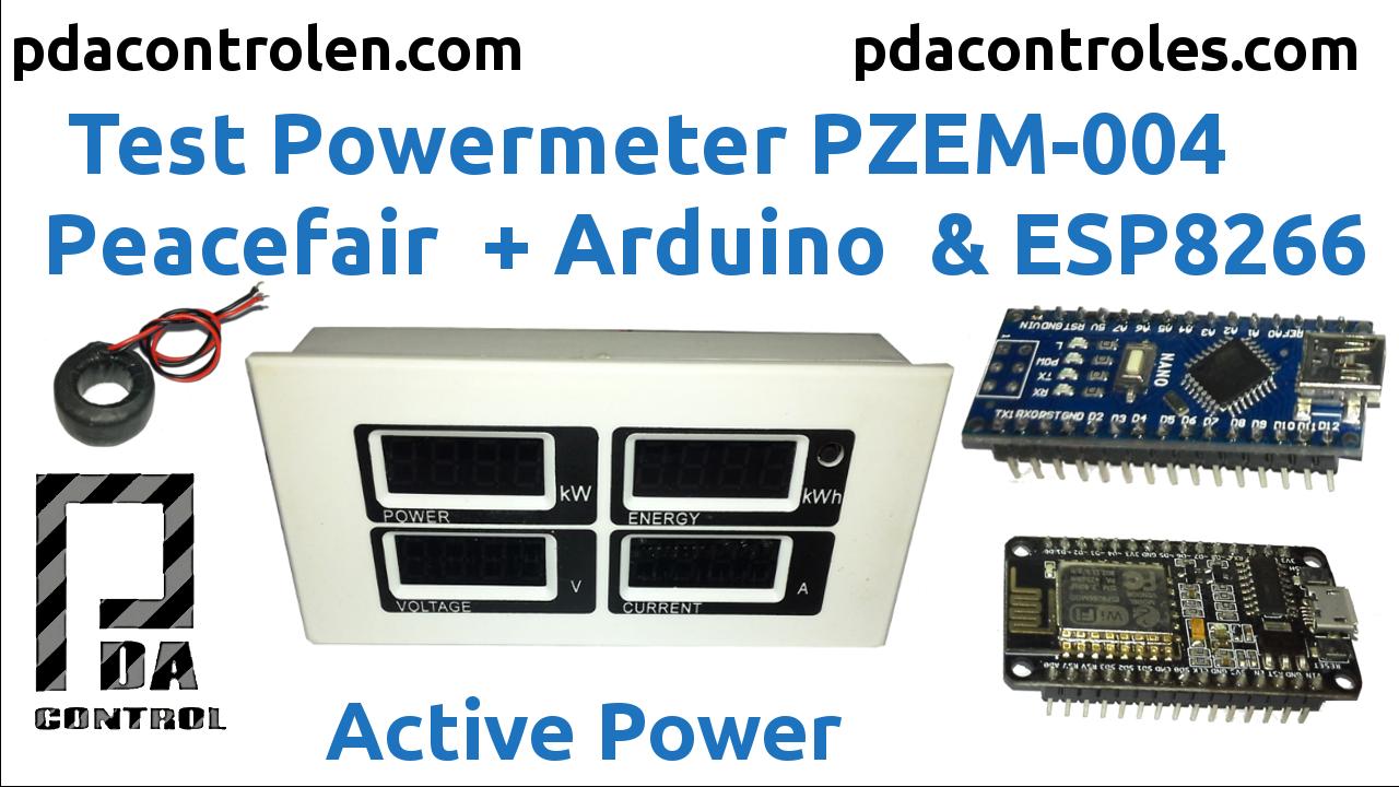 Electricity consumption meter Peacefair PZEM 004 + ESP8266 & Arduino Nano
