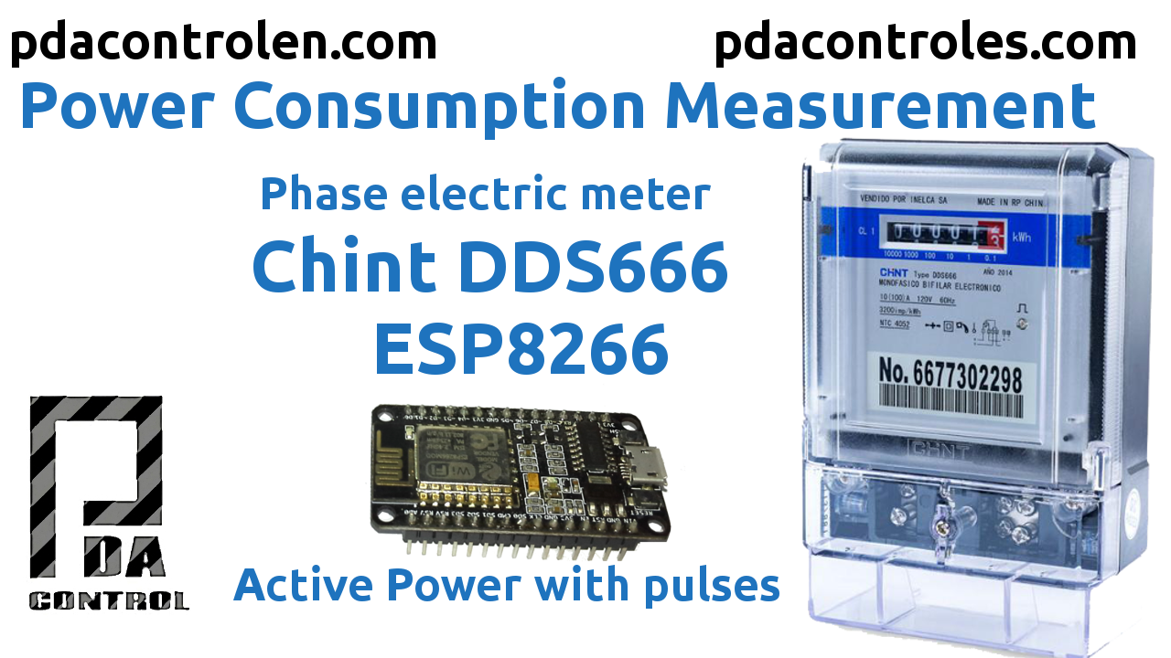Electric Consumption with Meter CHINT (pulses) + ESP8266 & Matrix led MAX7912