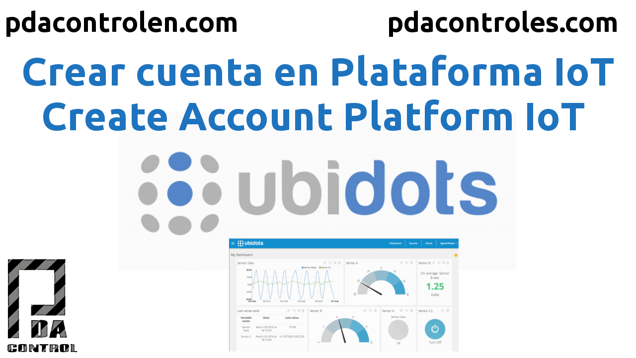 Create Account in IoT Platform Ubidots