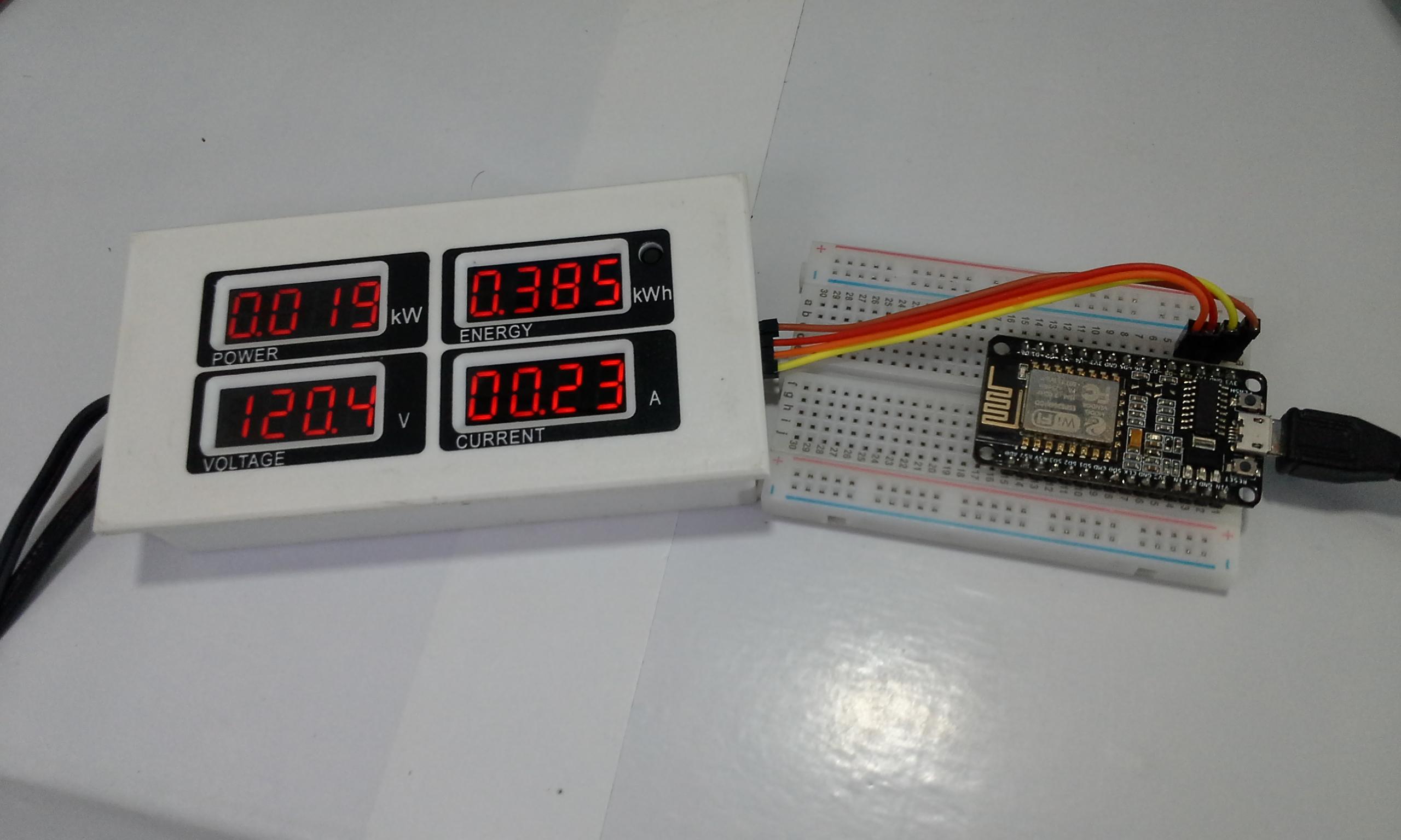 PZEM-004 + ESP8266 12E NodeMCU