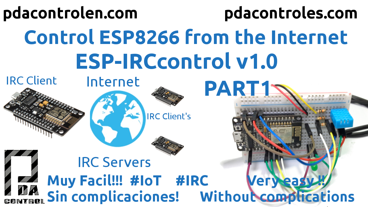 ESP8266 IRCControl from Internet IoT v1.0 Part 1 - PDAControl