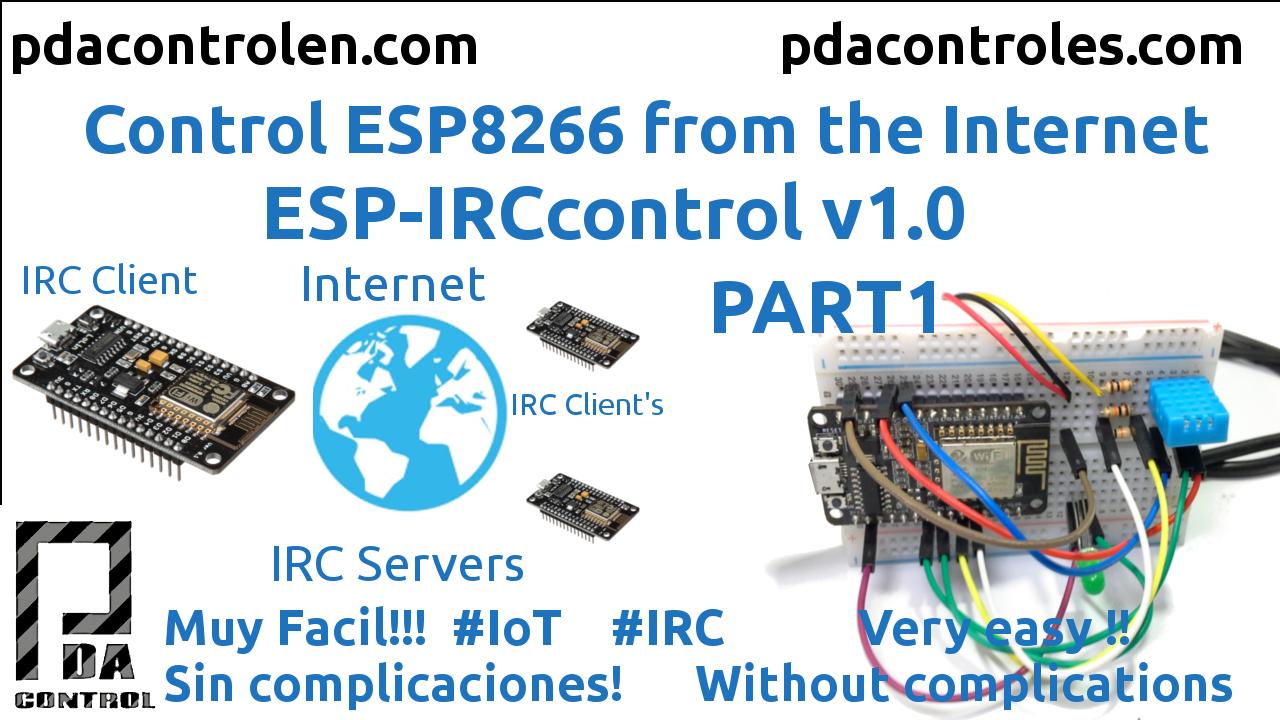 ESP8266 IRCControl from Internet IoT v1.0 Part 1