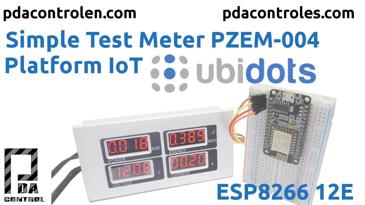 Meter PZEM-004 + ESP8266 & Platform IoT Ubidots