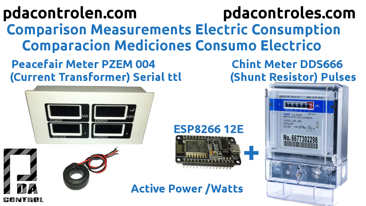 Comparison Measurements Peacefair Power PZEM 004 VS Chint DDS666 & ESP8266