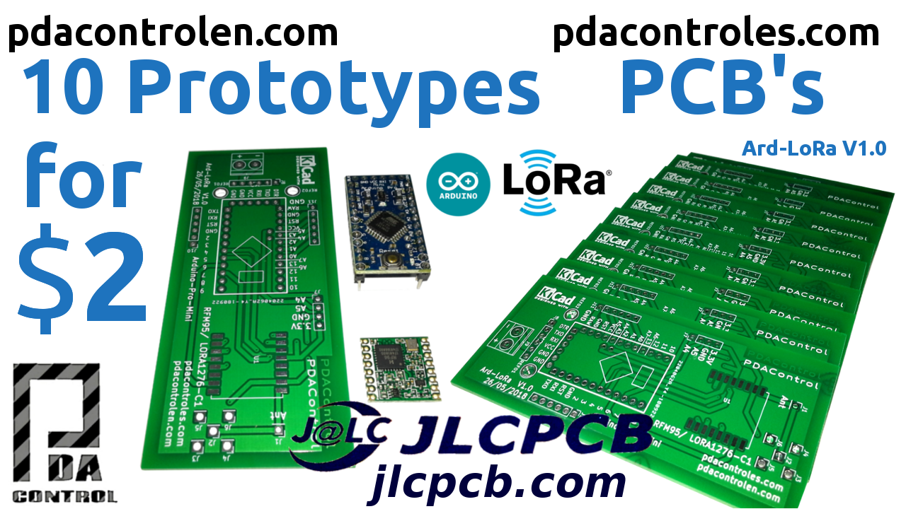 10 Professional PCBs for $ 2 with JLCPCB –   Ard-LoRa Prototypes