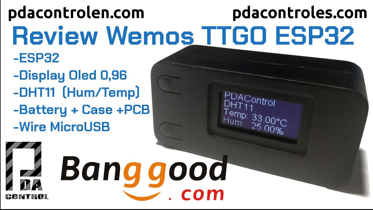 Review Module Wemos TTGO ESP32 + OLED V2.0 + DHT11