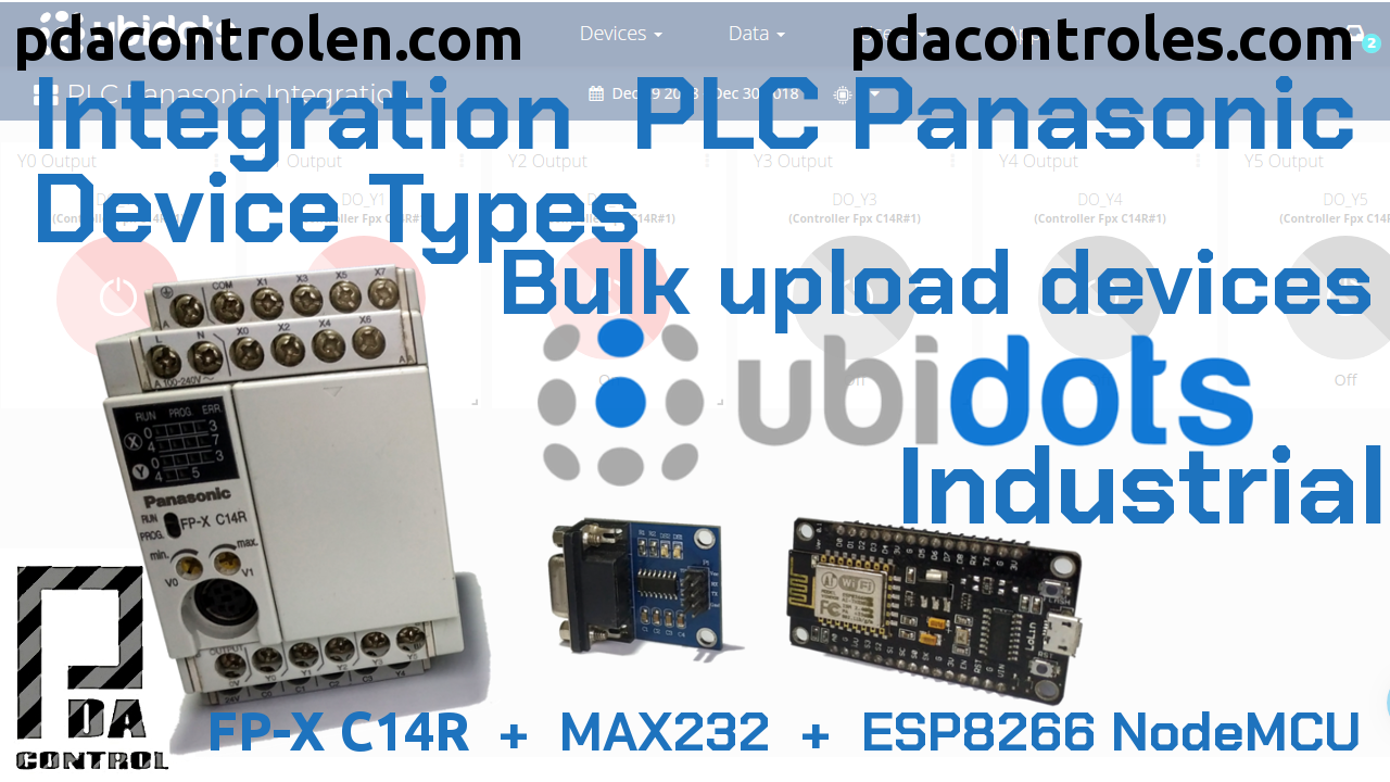 Integration  PLC Panasonic Device Types – Bulk upload devices with Ubidots