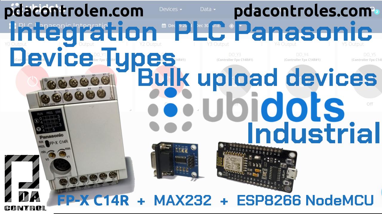 Integration  PLC Panasonic Device Types – Bulk upload devices with Ubidots