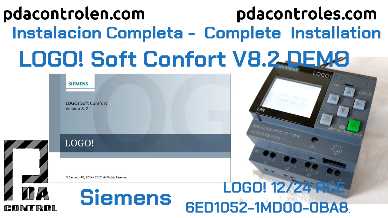 Download and Installation Software LOGO! Soft Comfort V8.2 Siemens DEMO