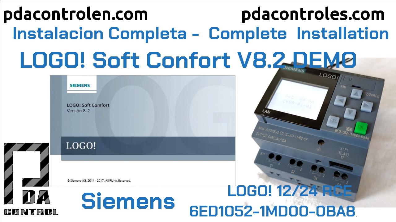 Download and Installation Software LOGO! Soft Comfort V8.2 Siemens DEMO