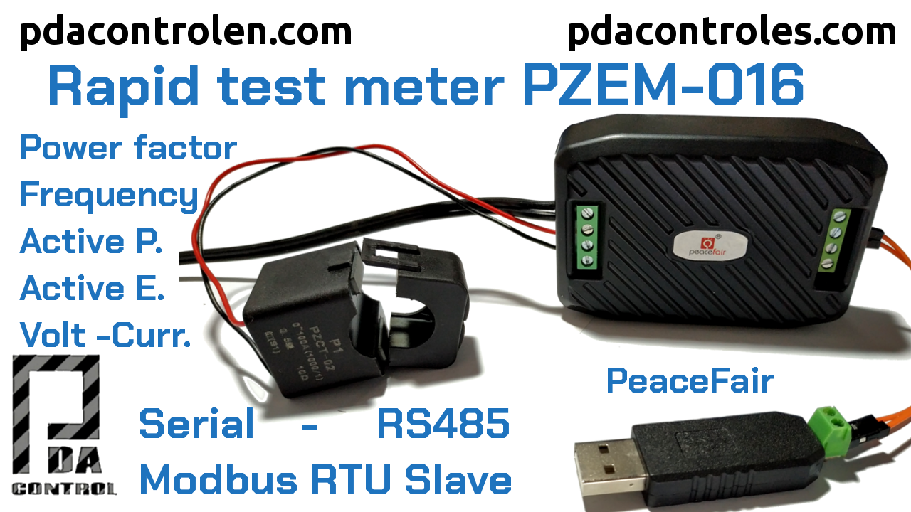Initial Review Meter PZEM-016 Modbus RTU RS485 by PeaceFair
