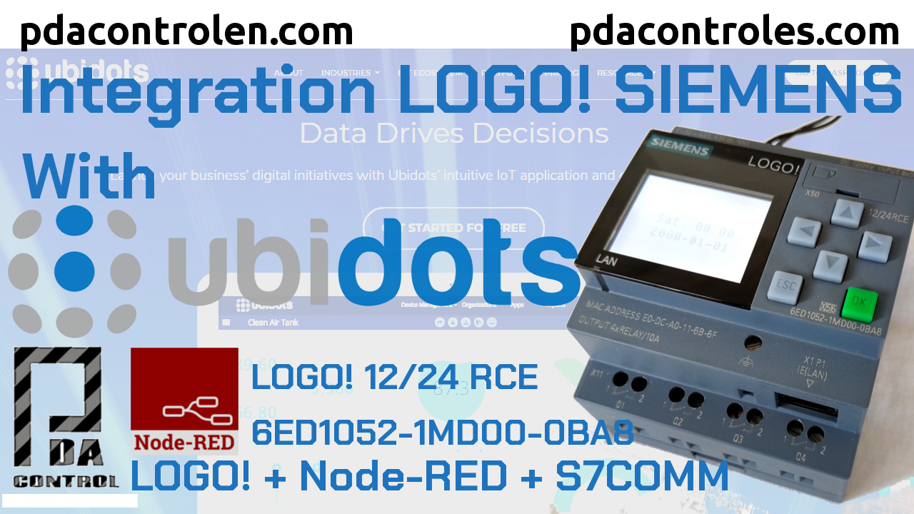 Integration Platform Ubidots with LOGO! Siemens using Node-RED