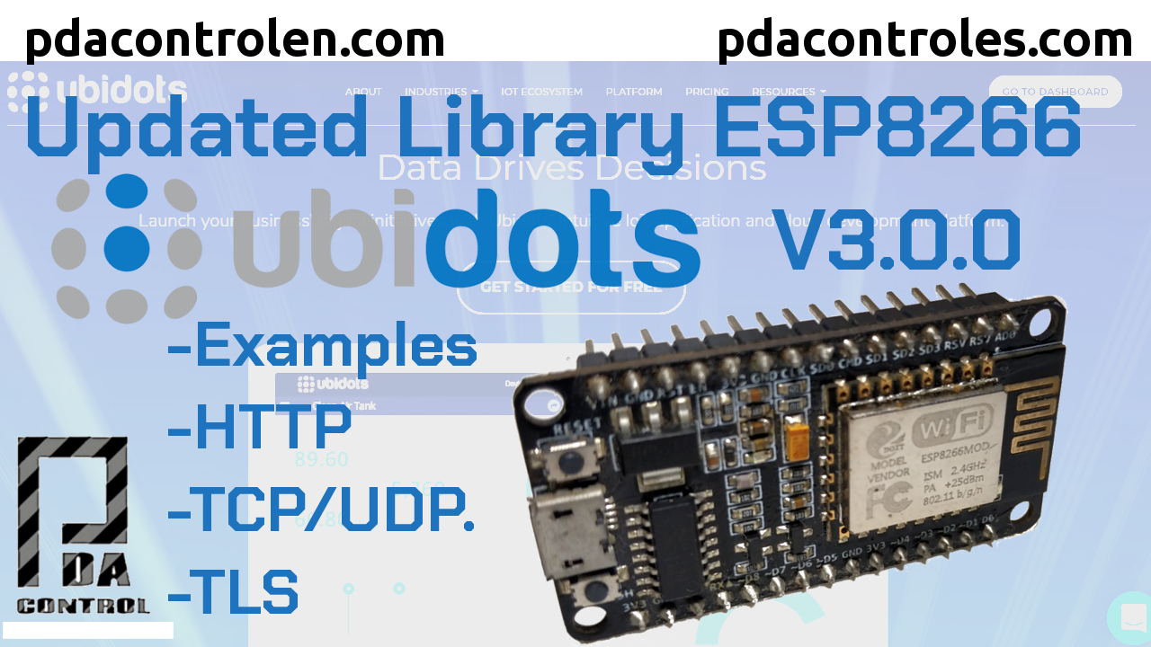 Update Ubidots Libraries  V3.0.0 for ESP8266 modules