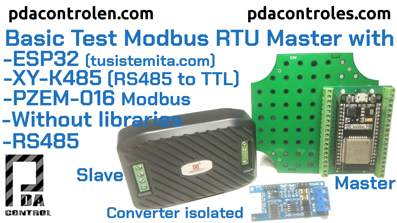 Basic Modbus RTU Master RS485 Test with ESP32 + XY-K485 + PZEM-016 (without libraries)