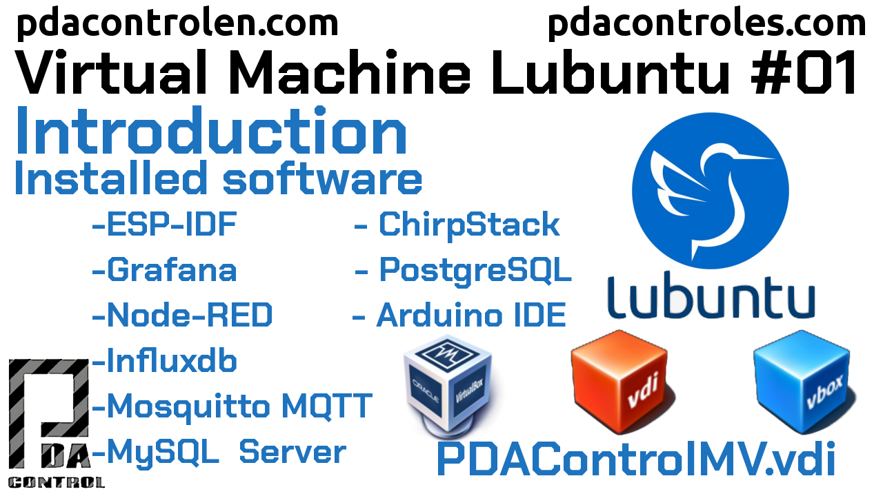 Download Lubuntu Virtual Machine (PDAControlMV) IoT in VirtualBox # 1