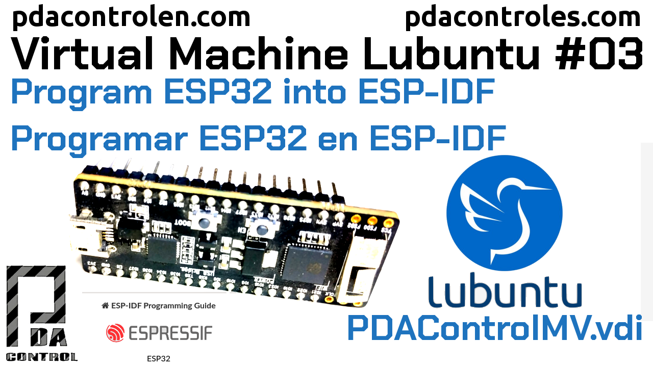 Program ESP32 in ESP-IDF idf.py & make PDAControlMV # 3