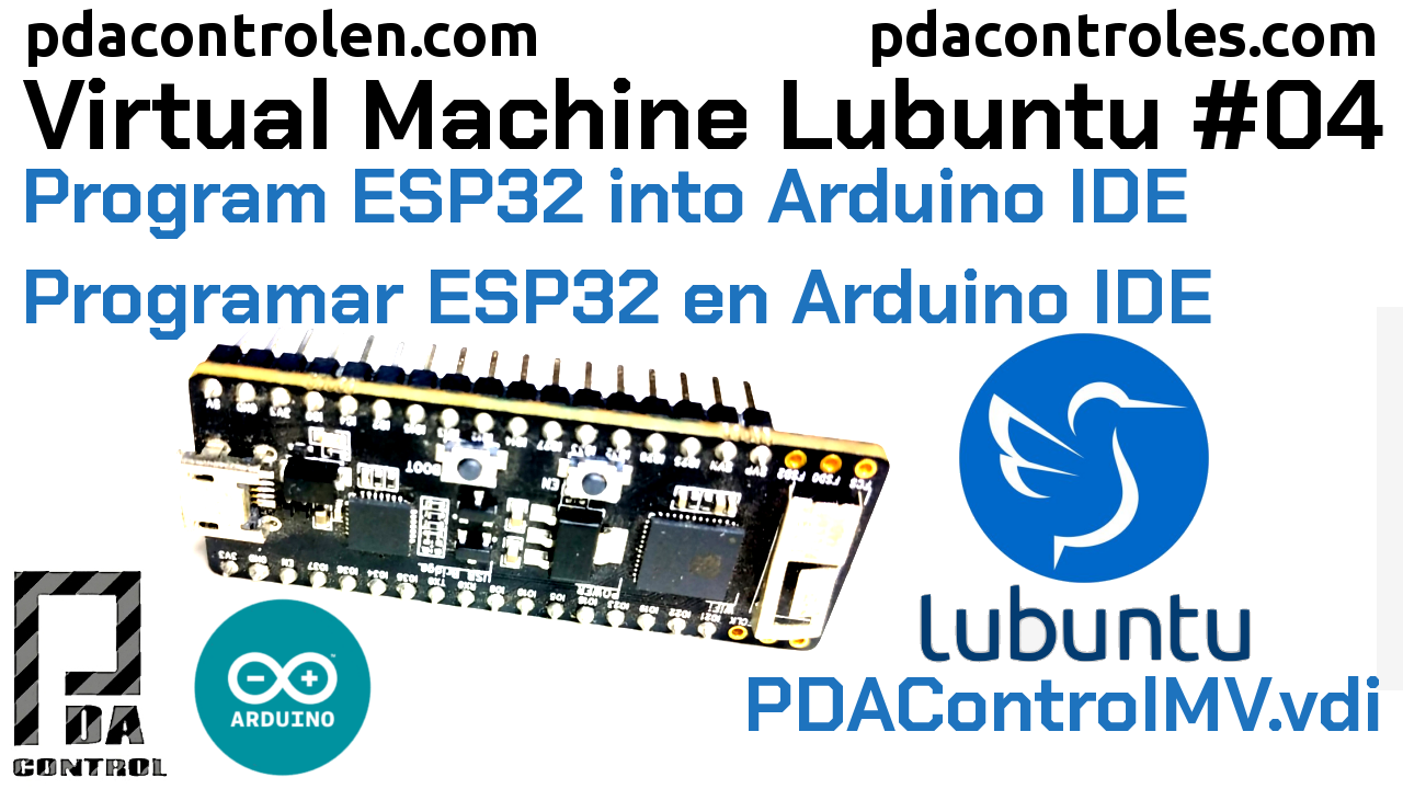 Program ESP32 in Arduino IDE PDAControlMV # 4