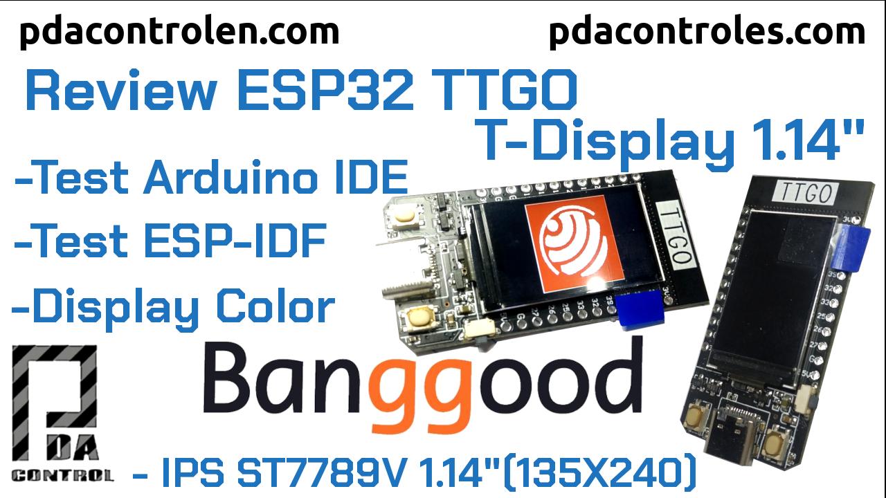 "Review Module ESP32 TTGO T-Display 1.14 """